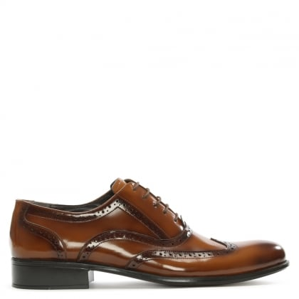 Tan Patent Leather Brogues