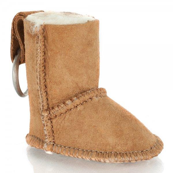 Tan Suede Sheepskin Boot Key-ring a83102ae9e66