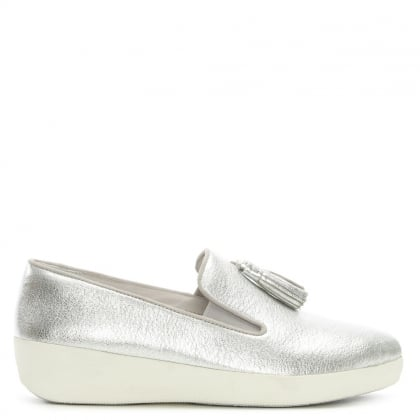 Tassel Superskate Silver Loafers