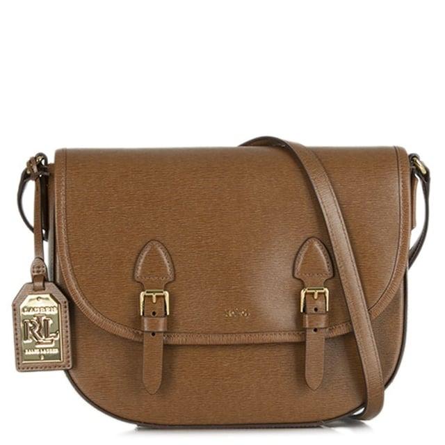 Tate Tan Leather Messenger Bag