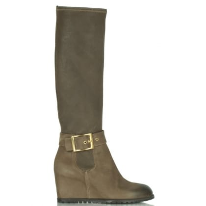 Daniel Taupe Bonaparte Women's Wedge Knee Boot