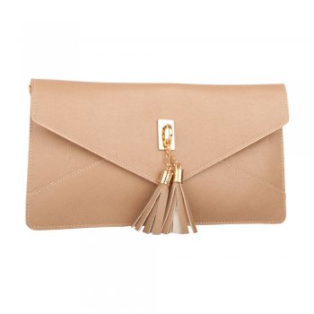 Taupe Dappy Women's Envelope Clutch Bag