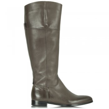 Taupe Vincent 81 28590 Leather Knee Boot
