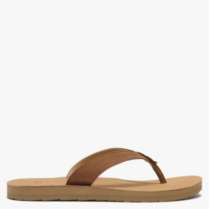 Tawney Chestnut Leather Toe Post Flip Flops Free Standard Uk Delivery