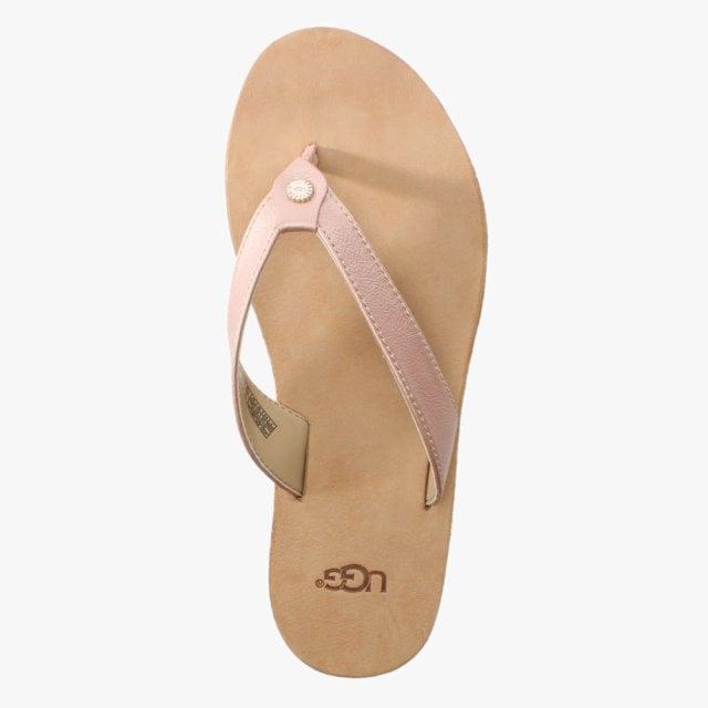 8e7b2da2ccc Tawney Rose Gold Metallic Toe Post Flip Flops