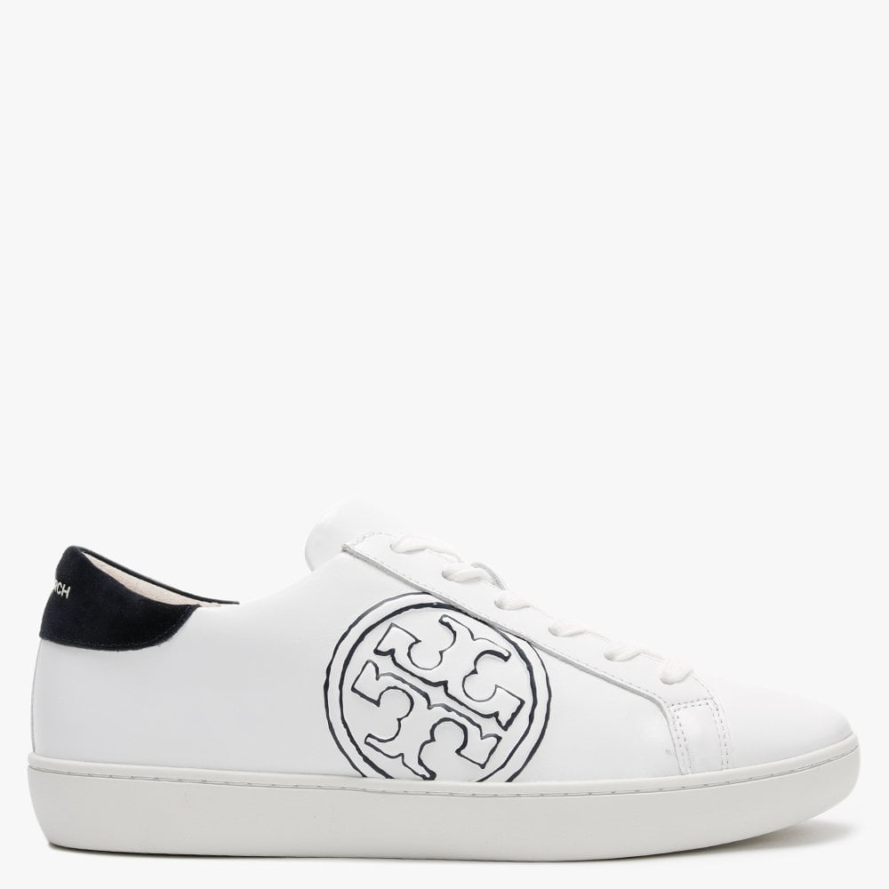 Tory Burch T Logo White Leather Trainers