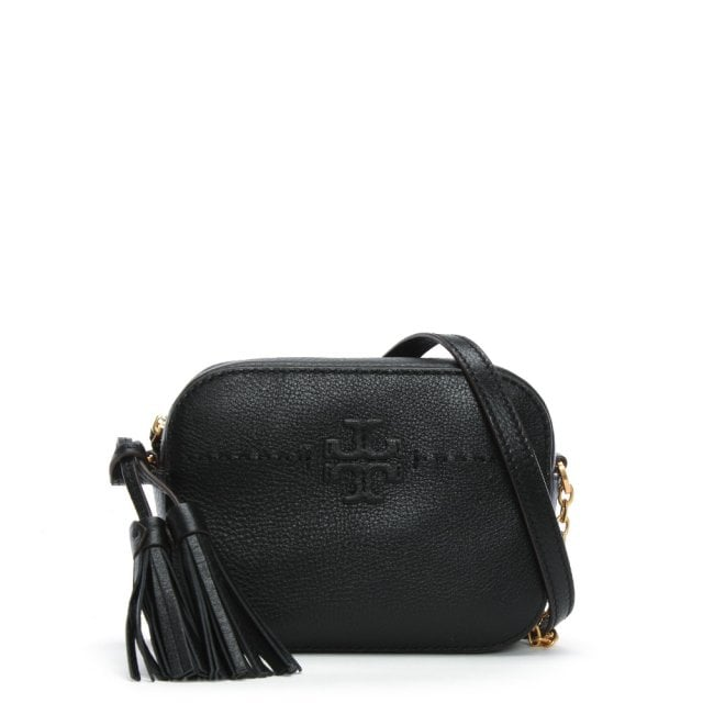Tory Burch McGraw Black Leather Camera Bag
