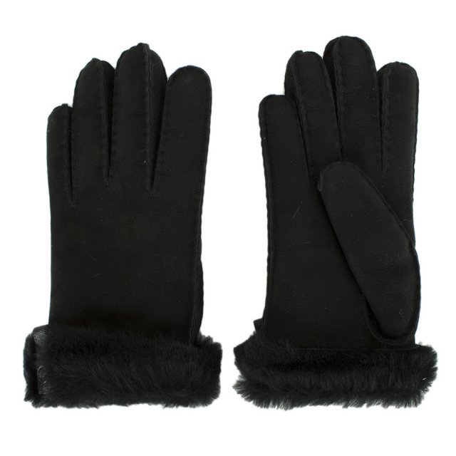 555742542 UGG Australia Tenney Black Suede Women's Glove