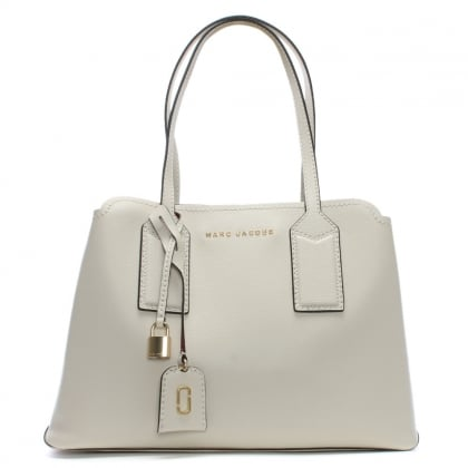 The Editor Antique White Leather Tote Bag
