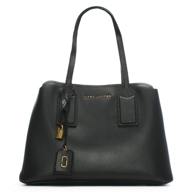 The Editor Black Leather Tote Bag