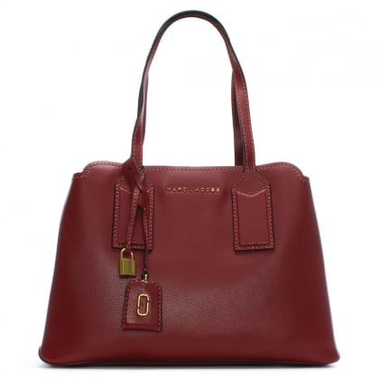 The Editor Cabernet Leather Tote Bag