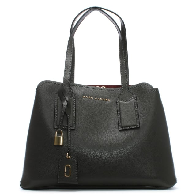The Editor Graphite Leather Tote Bag