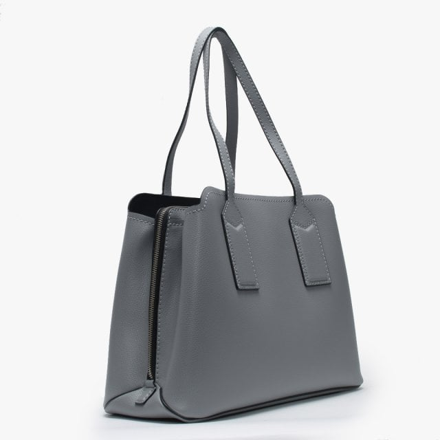 9e91363b906 The Editor Rock Grey Leather Tote Bag