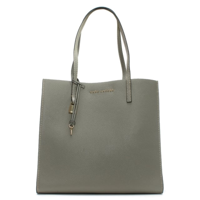 The Grind Stone Grey Leather Unlined Tote Bag