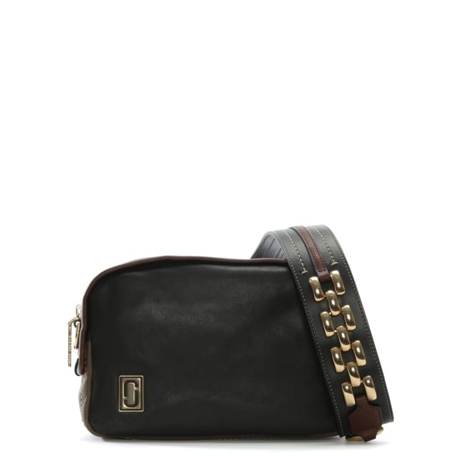 The Squeeze Black Multi Leather Zip Around Shoulder Bag