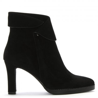 Thornhill Black Suede Ankle Boots