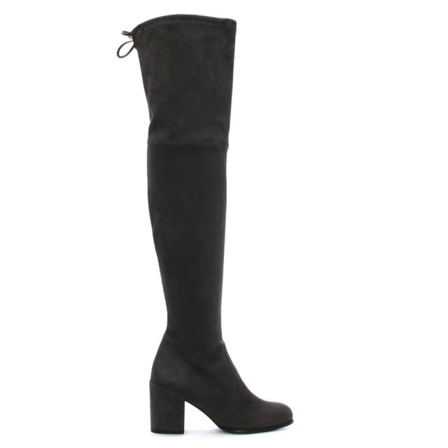 Stuart Weitzman Tieland Grey Suede Over The Knee Boots