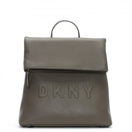 Tilly Stone Leather Logo Backpack