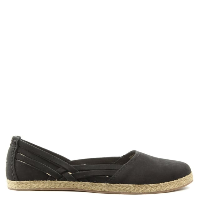 Tippie Black Nubuck Slip On Pump
