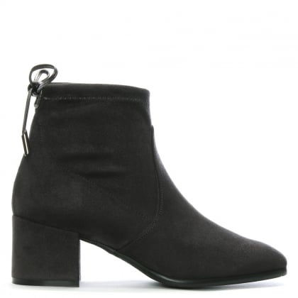 Tollar Grey Stretch Suede Ankle Boots