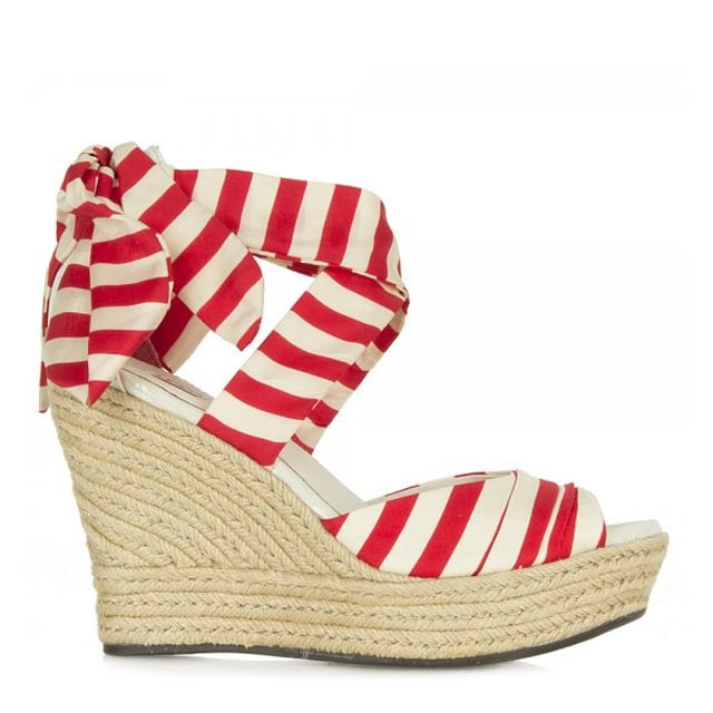 Tomato Soup Red Lucianna Stripe Women's Wedge Sandal