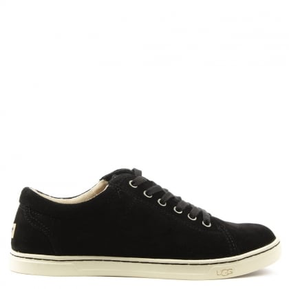 Tomi Black Suede Lace Up Trainer