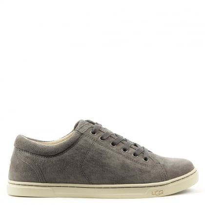 Tomi Pewter Suede Lace Up Trainer