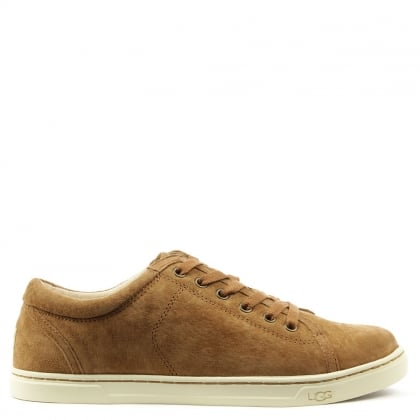 UGG Tomi Tan Suede Lace Up Trainer