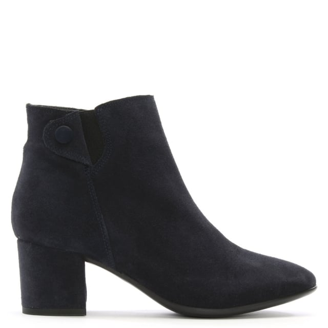 Tordino Navy Suede Ankle Boots