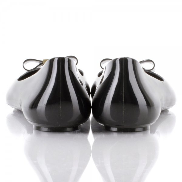 f25813af7f4c Tory Burch Black Jelly Bow Women s Ballet Flat