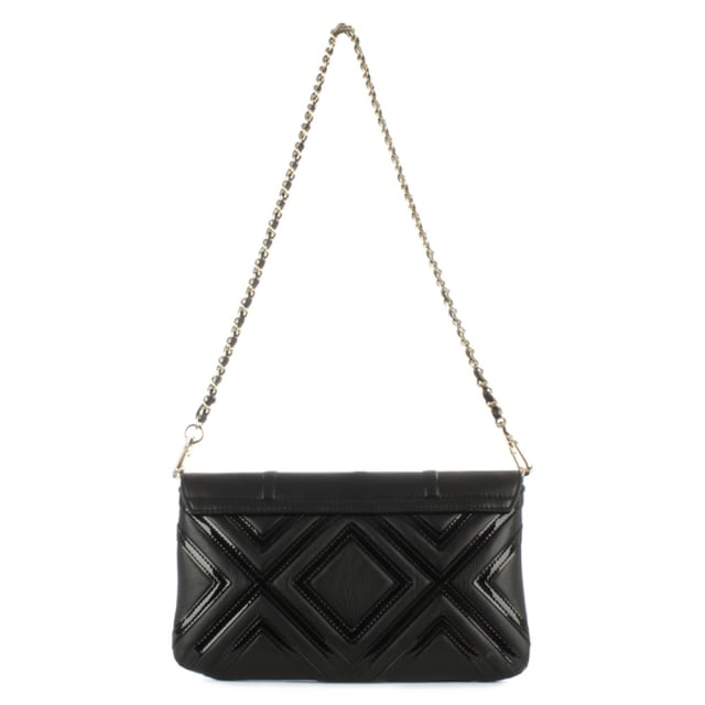 9984108fa75f Tory Burch Fleming Geo Black Leather Clutch