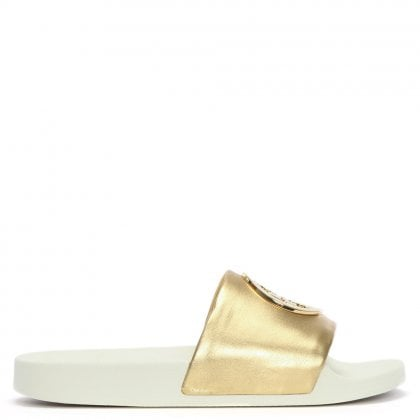 926fbde77 Lina Gold Leather Logo Sliders. Free Standard UK Delivery. Tory Burch ...