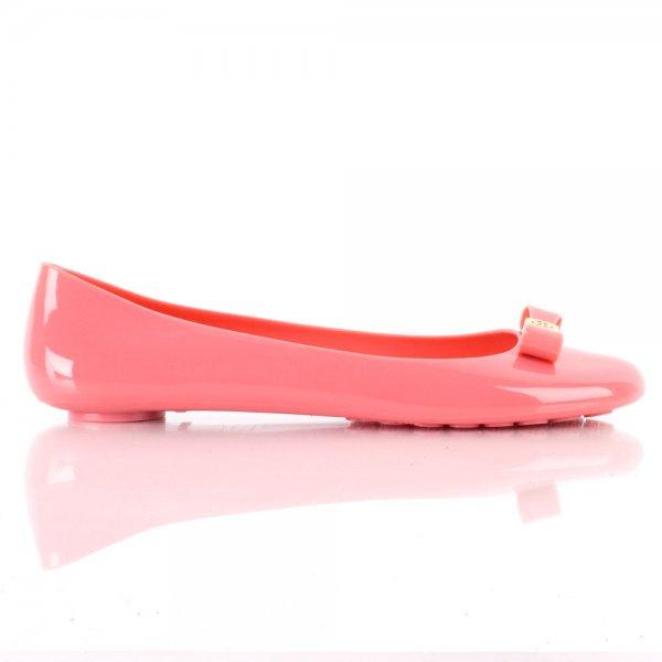 6bc28b77d992 Tory Burch Pink Jelly Bow Women s Ballet Flat