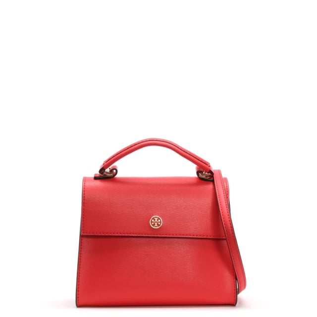 61297543cfd Tory Burch Small Parker Red Ginger Leather Satchel Bag