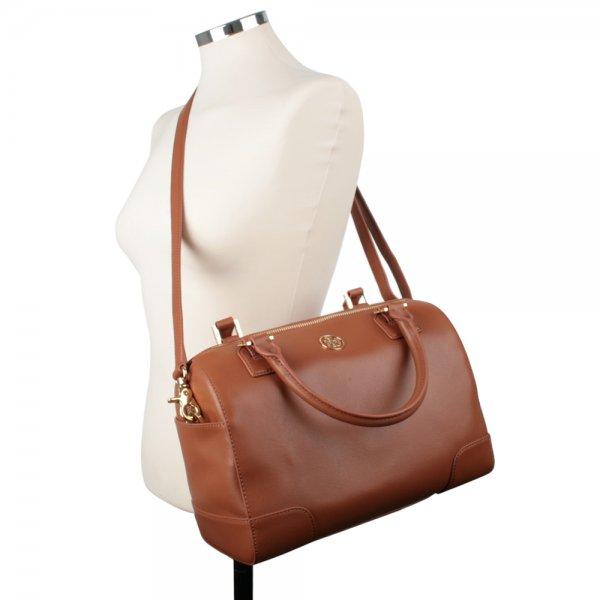 adbbe2ee19d Tan Leather ROBINSON MIDDY SATCHEL BAG - Bags from Daniel Footwear UK