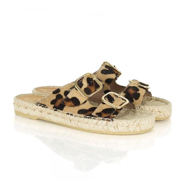 81045f4869c Daniel Tosda Leopard print Womens Flat Sandal