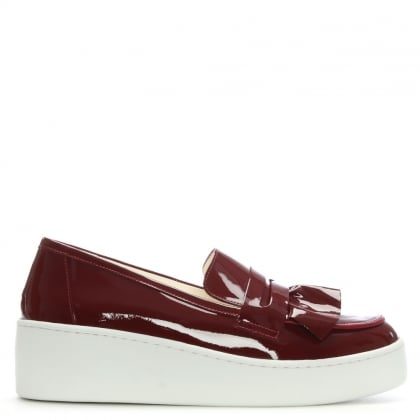 Touxo Burgundy Patent Leather Loafers