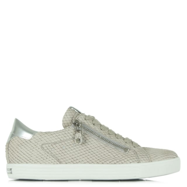 Towner Grey Suede Reptile Lace Up Trainer