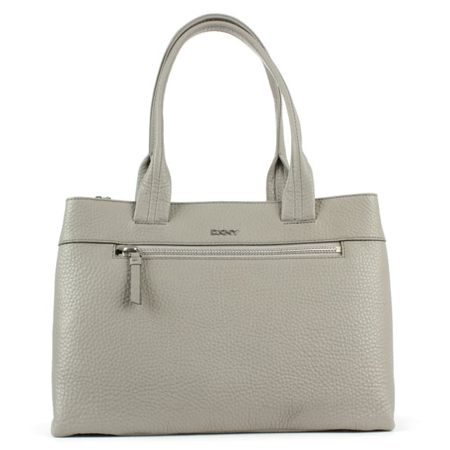 Tribeca Grey Tumbled Leather Shopper