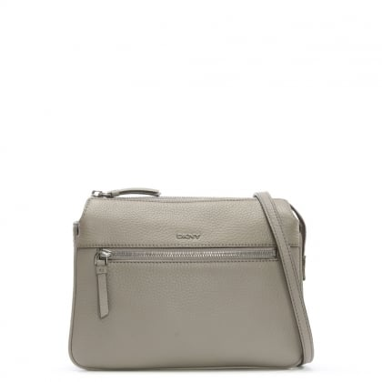 Tribeca Soft Tumbled Grey Leather Cross-Body Bag