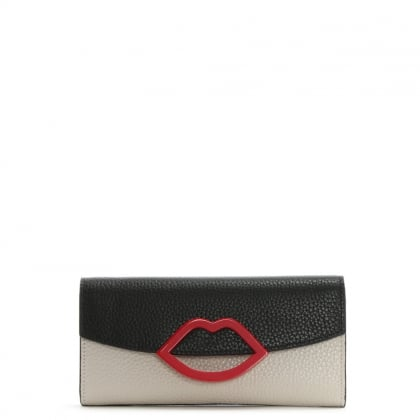 Tricolour Grainy Leather Trisha Wallet