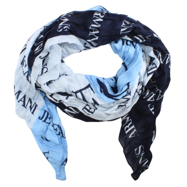 Tricolour Navy Light Weight Logo Scarf