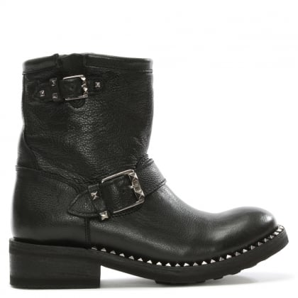 Truth Black Leather Biker Boot