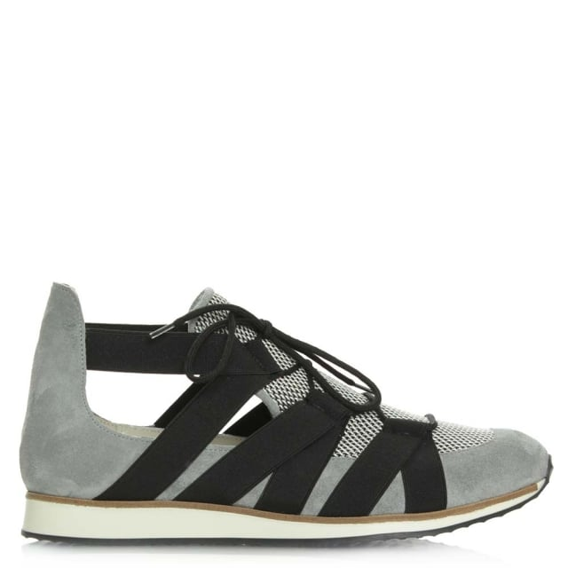 Tulsa Grey Suede Cut Away Trainer