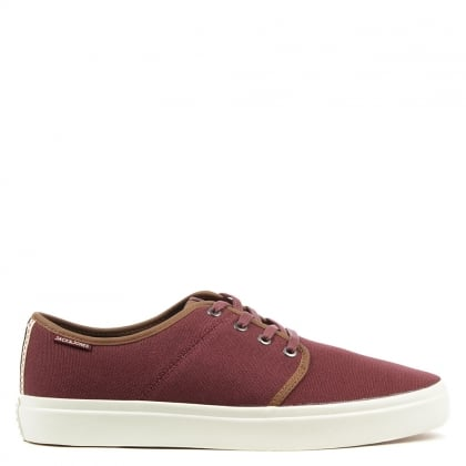 Turbo Burgundy Canvas Lace Up Sneaker