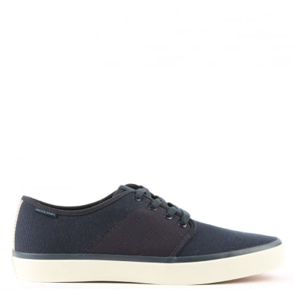 Turbo Navy Canvas Lace Up Trainer