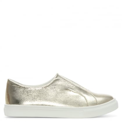 Turnberry Gold Metallic Slip On Sporty Pumps