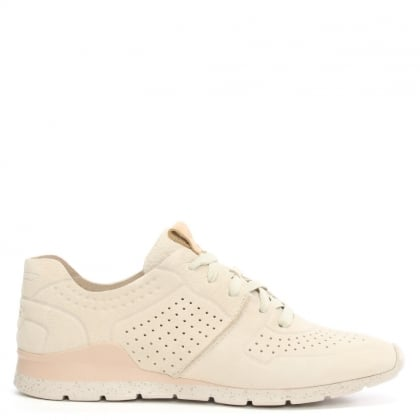 Tye Ceramic Leather Perforated Trainer