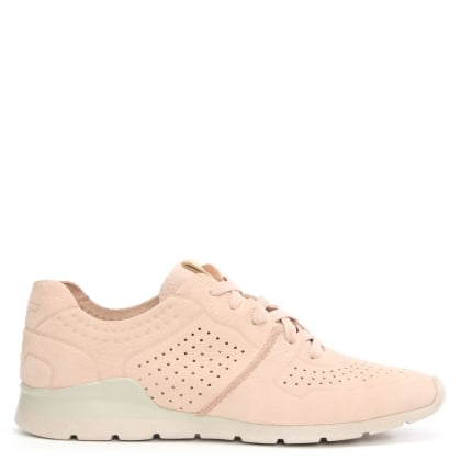 Tye Quartz Leather Perforated Trainer