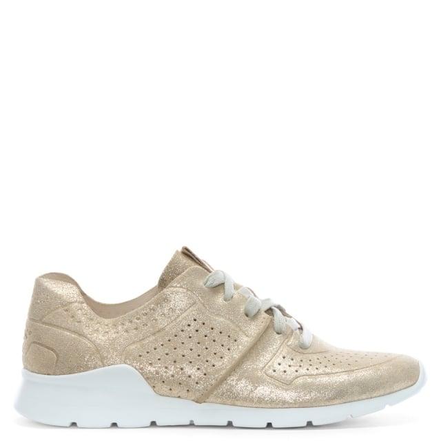 67f9eca44d2 Tye Stardust Gold Leather Metallic Sneakers